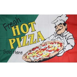 Fresh Hot Pizza 3' x 5' Polyester Flag