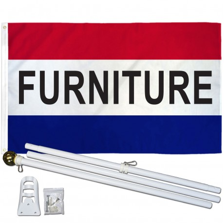 Furniture 3' x 5' Polyester Flag, Pole and Mount