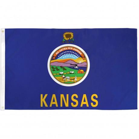 Kansas State 3' x 5' Polyester Flag