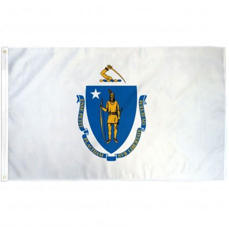 Massachusetts State 3' x 5' Polyester Flag