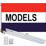 Models Patriotic 3' x 5' Polyester Flag, Pole and Mount