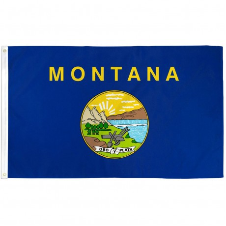 Montana State 3' x 5' Polyester Flag