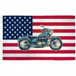USA Historical Motorcycle 3' x 5' Polyester Flag