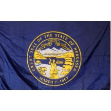 Nebraska 3'x 5' Solar Max Nylon State Flag