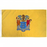 New Jersey State 3' x 5' Polyester Flag