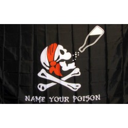 Name Your Poison with Bottle 3'x 5' Pirate Flag