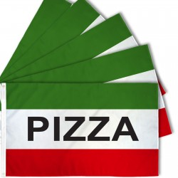 Pizza Green 3' x 5' Polyester Flag - 5 Pack