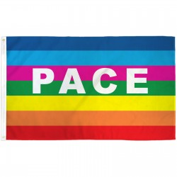 Rainbow Pace 3' x 5' Polyester Flag