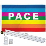 Rainbow Pace 3' x 5' Polyester Flag, Pole and Mount