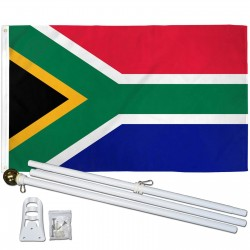 South Africa 3' x 5' Polyester Flag, Pole and Mount
