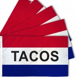 Tacos Patriotic 3' x 5' Polyester Flag - 5 pack