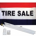 Tire Sale 3' x 5' Polyester Flag, Pole and Mount