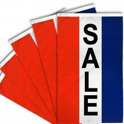 Sale Vertical 3' x 5' Polyester Flag - 5 Pack