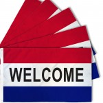 Welcome Patriotic 3' x 5' Polyester Flag - 5 Pack