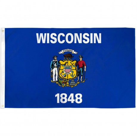 Wisconsin State 3' x 5' Polyester Flag