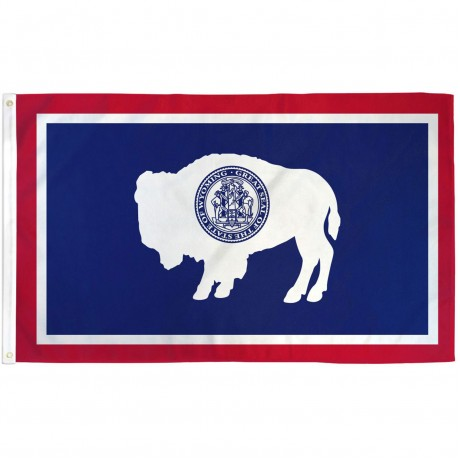 Wyoming State 3' x 5' Polyester Flag