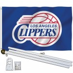 Los Angeles Clippers 3' x 5' Polyester Flag, Pole and Mount