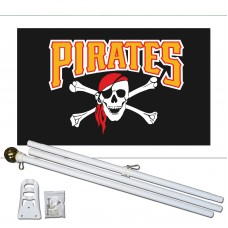 Pittsburgh Pirates 2' x 3' Polyester Flag, Pole and Mount