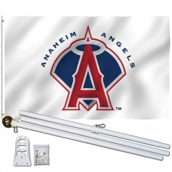 Los Angeles Anaheim Angels 3' x 5' Polyester Flag, Pole and Mount