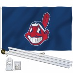 Cleveland Indians 3' x 5' Polyester Flag, Pole and Mount