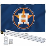 Houston Astros 3' x 5' Polyester Flag, Pole and Mount