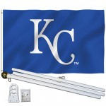 Kansas City Royals 3' x 5' Polyester Flag, Pole and Mount