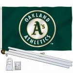 Oakland Athletics 3' x 5' Polyester Flag, Pole and Mount