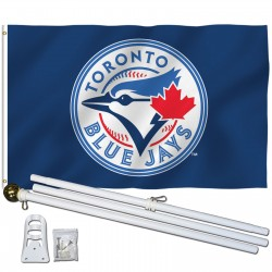 Toronto Blue Jays 3' x 5' Polyester Flag, Pole and Mount
