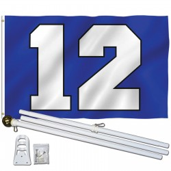 Seattle Seahawks Big 12 3' x 5' Polyester Flag, Pole and Mount