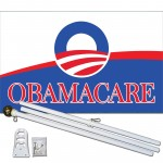 Obamacare 3' x 5' Polyester Flag, Pole and Mount