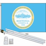 Boston City Bostonia 3' x 5' Polyester Flag, Pole and Mount