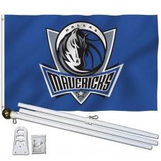 Dallas Mavericks 3' x 5' Polyester Flag, Pole and Mount