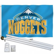 Denver Nuggets 3' x 5' Polyester Flag, Pole and Mount
