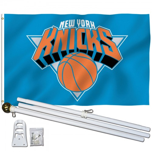free shipping 3f14b 16195 New York Knicks 3' x 5' Polyester Flag, Pole and Mount
