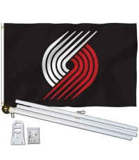 Portland Trail Blazers 3' x 5' Polyester Flag, Pole and Mount