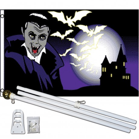 Vampire Castle 3' x 5' Polyester Flag, Pole and Mount