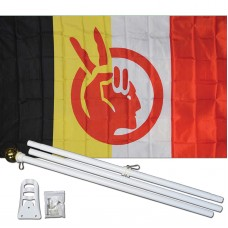 American Indian Movement 3' x 5' Polyester Flag, Pole and Mount