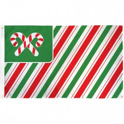 Christmas USA Candy Canes 3' x 5' Polyester Flag