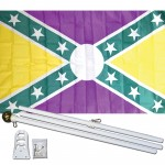Mardi Gras Battle 3' x 5' Polyester Flag, Pole and Mount