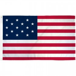 USA Historical 15 Star 3' x 5' Polyester Flag
