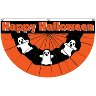 Happy Halloween Bunting Shaped 3' x 5' Polyester Flag