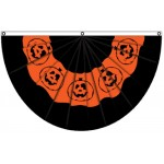 Halloween Pumpkin Bunting Shaped 3' x 5' Polyester Flag