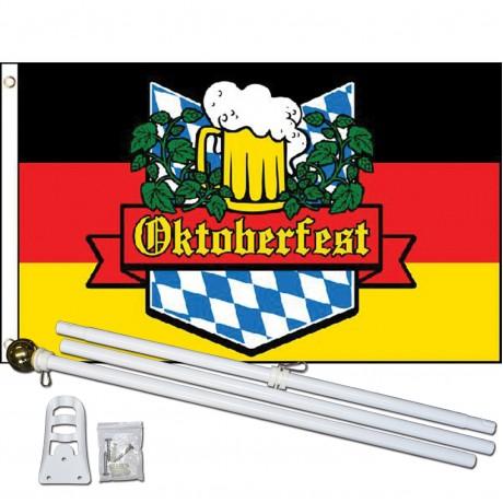 Oktoberfest 3' x 5' Polyester Flag, Pole and Mount