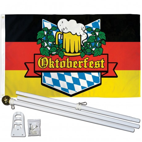 Oktoberfest 3' x 5' Polyester Flag, Pole and Mount