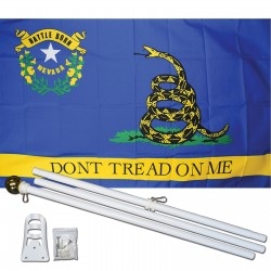 Don't Tread On Me Nevada 3' x 5' Polyester Flag, Pole and Mount