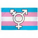 Transgender Symbol Pride 3' x 5' Polyester Flag