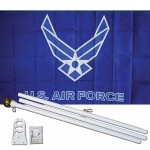 Air Force Wings 3' x 5' Polyester Flag, Pole and Mount