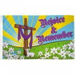 Easter Rejoice & Remember 3' x 5' Polyester Flag