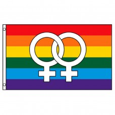 Double Venus Rainbow 3' x 5' Polyester Flag