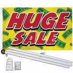 Huge Sale Yellow Cash 3' x 5' Polyester Flag, Pole and Mount